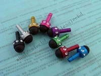 500pcs/lot  Crystal Diamond Multipurpose Earphone 3.5mm Jack Dustproof Plug with stylus function