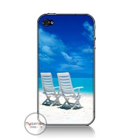 Ultra thin PC hard case cover for iphone 4 4s Beach Chair+wholesale and retail+fast shipping