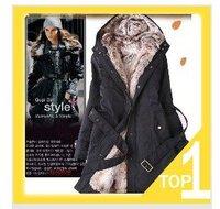 Faux fur lining women's fur coats winter warm long coat jacket clothes wholesale Free Shipping Y0749