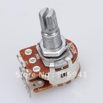 10pcs Guitar Tone Potentiometer Dual Deck B250K Blend/Balance Pickup Parts Replacement