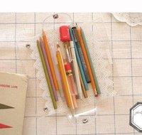 Hot selling portable cute lace pvc waterproo eyeglasses case glasses bag pencil bag pencil holder free shipping
