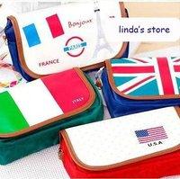Hot selling cute  high-capacity flag series satchel bag passport bag camera pouch wallet bag purse free shipping