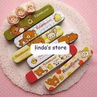 Hot selling cute relax bear Tin pencil case Tin storgae box Tin case Pencil box pencil holder Fashion free shipping