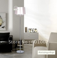 free shipping !wholesale top K9 crystal+stainless steel  floor lamps/floor lights/ top quality  D400mm x H1590mm