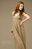 Женское платье 2012 New Hot Sale Bohemia Style Printing Long Halter Dress, 1Pcs/Lot, Quality promised