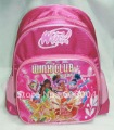 Free shipping  New Fashion Pink Children's Winx Club  bag Backpack Satchel Lovely Bookbag#168 wholesale and retail