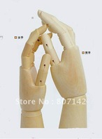 HOT 30 cm,Gift of Left &Right man's Wood Hand Kid`s Educational Toy 2pcs/lot free shipping