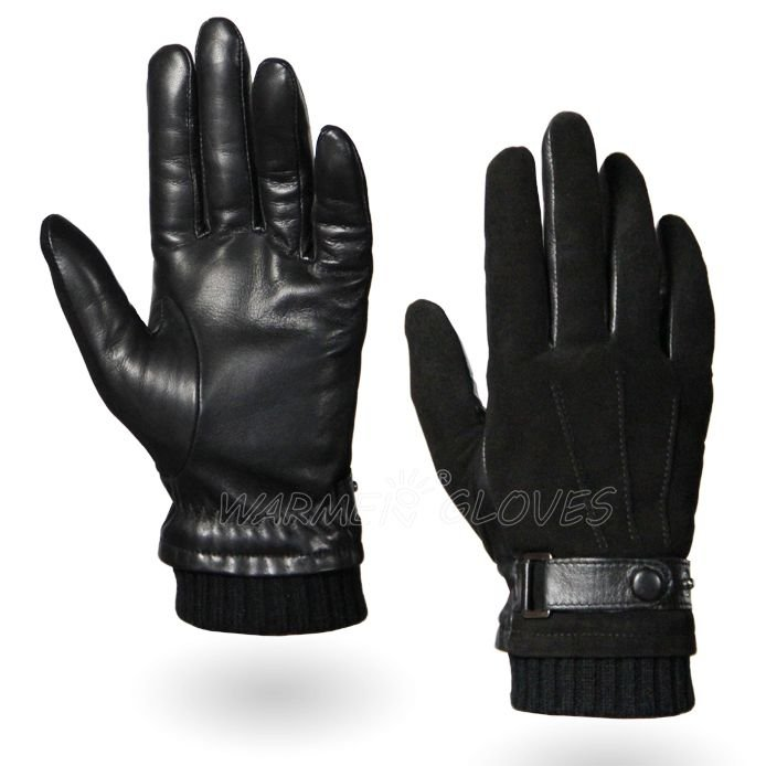 Fingerless Leather Gloves Men Men's Leather Gloves