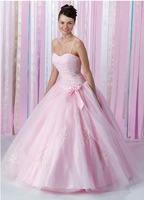 Elegant ball gown spaghetti strap quinceanera prom evening dress