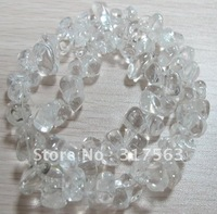 Rock Crystal 5*9 mm nugget Natural Crystal beads.40 cm/strings.Free shipping