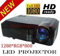 2600 ansi lumens portable led projector  Native 720p WXGA(1280*800) with 3 HDMI 2 USB reader