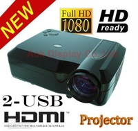Brand new 2600 ansi lumens portable led projector  Native 720p WXGA(1280*800) with 3 HDMI 2 USB reader