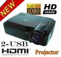 Brand new 2600 ansi lumens portable led projector  Native 720p WXGA(1280*800) with 3 HDMI 2 USB reader