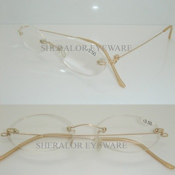 2021 alloy metal rimless with spring hinge reading eyeglasses,high classic reading eyeweare with case