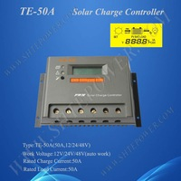 High Tech, PV Solar Charge Controller 50A 12V 24V 48V auto work, 2 Years Warranty