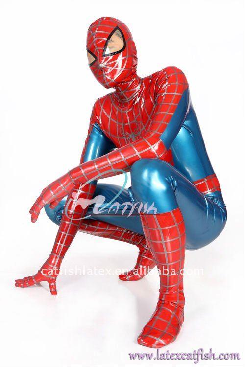 spider Black man suit latex