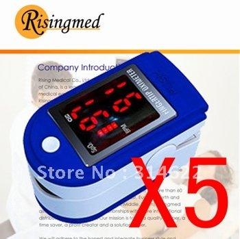 Promotion 5 units together Finger Fingertip Pulse Oximeter,SPO2 Monitor, Oximetry