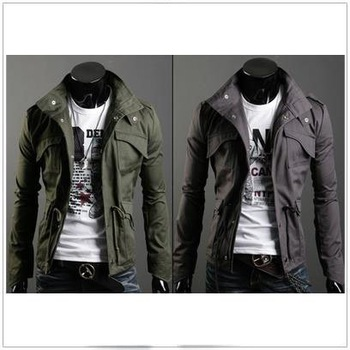 Free shipping Men's Jacket Zippered Cardigan Casual Casual Coat Stand Collar Sweatshirt M-XXL JK05