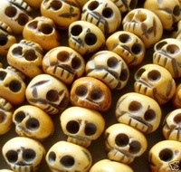 Brand New Hot rare Collectible beautiful Jewelry 108 Ox Bone Skull Beads Buddhist Prayer Mala necklace free shipping