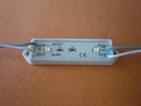 3528 SMD LED Module two pieces LED;DC12V input,20pcs a string;49mm*14mm size