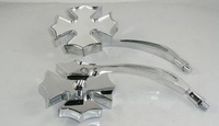 CHROME BIKE MOTORCYCLE MIRRORS FIT HARLEY-DAVIDSON