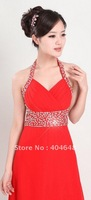 Bride Dress / Gown down new long paragraph / banquet dinner / propose a toast take the bride with / red 9042