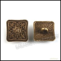150 pcs/lot Wholesale Vintage Bronze Square Shank Metal Buttons 13mm Garment Fashion Sewing Buttons 160656