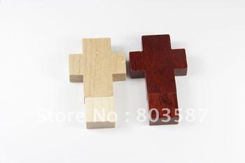 Cross Style Wooden USB Flash Disk Drive 4GB 8GB 16GB 32GB Wholesale