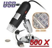 500X 1.3 Mega Pixels 8-LED USB Digital Microscope