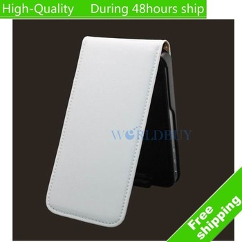 High Quality Leather Flip Skin Case Cover For iphone 4 4G 4S  Free Shipping UPS DHL HKPAM CPAM #943021