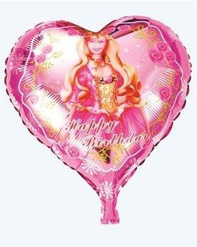 Factory supplies wholesale peach heart barbie balloon cartoon balloon valentine's day wedding balloon balloon
