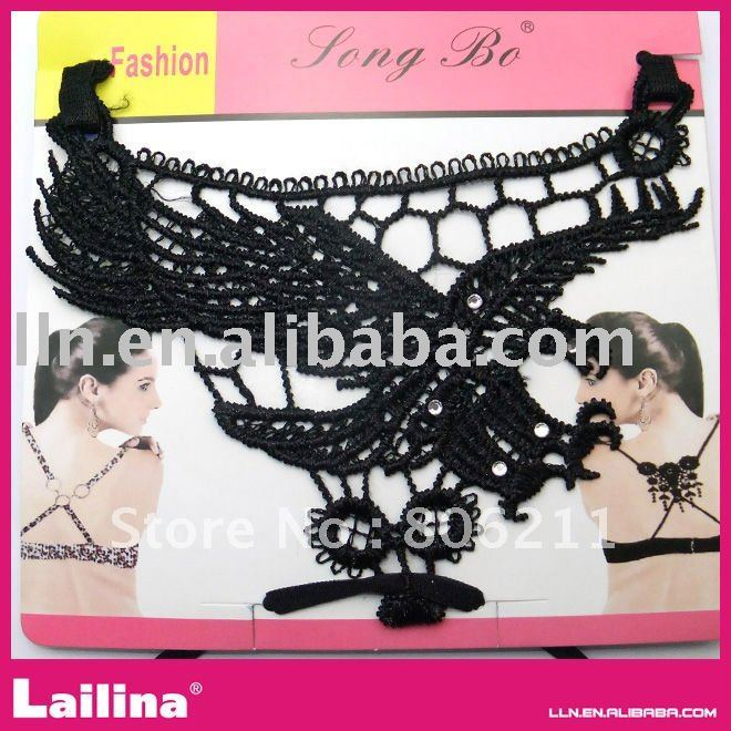 Newest bra straps with contton lace(China (Mainland))