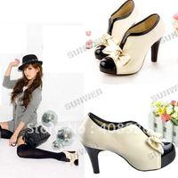 Туфли на высоком каблуке 2012 New Sexy Woman Vintage Stiletto Platform Pump Slim High Heel Shoe 3635
