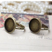 free ship!!!12mm antique brass bronze plated ring base/lead free nickel free