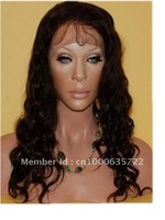 hot sale  wave 20inch  indian remy human  hair lace front wig free shipping AAAquality