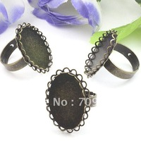 free ship!!!18*25mm  antique brass bronze plated double lace  shape ring base/lead free nickel free