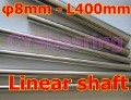 1pc diameter 8mm - L400mm linear round shaft harden rod chrome plated linear shaft for linear slide system CNC XYZ table