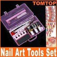 Pro Manicure Pedicure Nail Art Tool Cuticle Nipper Cutter Sanding File Kit Set