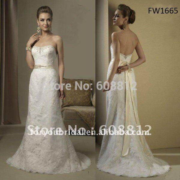 Wedding Dress Waist Sash Lace Strapless