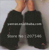 YR-130A Fashion style mongolia fur leg warmers ~wholesale~detail~OEM~