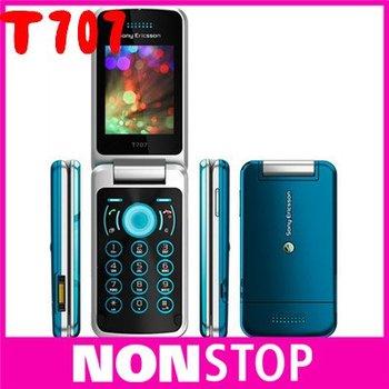 Sony Ericsson T707, unlocked original T707 mobile phones 3G bluetooth mp3 player 3.2MP camera free shipping