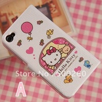 free shipping leather case For iphone 4 4G, For Iphone 4  leather case#8191