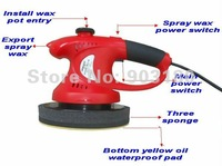2012 NEW 12V smart spray wax Polishing wax,car electric polisher,waxing machine,sponge polisher,4PCS/lot ,fast shipping