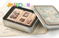 Печать c31-86 / New vintage style A life old memeory in wooden stamp set / stamp gift /21 pcs per set