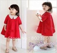 free shipping  - Girls Dress baby dress Children dress long sleeve girl dresses child one-piece dress baby clothes