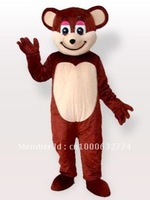 Smiling Brown Bear Adult Mascot Costume Adult Character Costume Cosplay mascot costume free shipping
