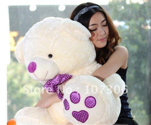 Free Shipping/Super Lovely big bear 80cm / plush toys/valentine bear /stuffed big bearValentine's day gift/promotion gifts(China (Mainland))