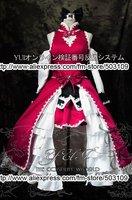 Puella Magi Madoka Magica Cosplay costume Sakura Kyouko Long Pink White Dress EMS Freeshipping