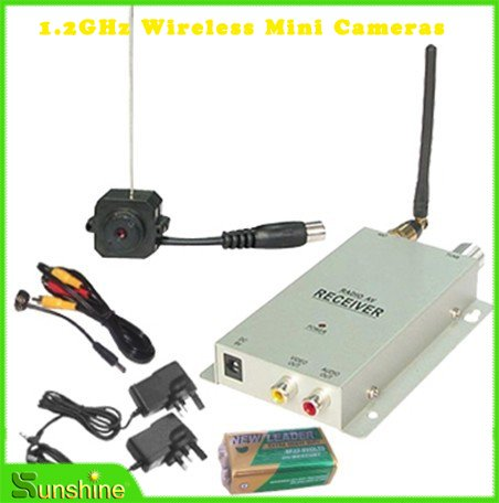 Free Shipping 1.2Ghz Wireless MINI Camera + Video Receiver(China (Mainland))