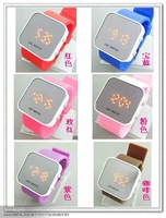 led Mirror watch silicone mirror watch Mirror watch wrist quartz watch quartz analog watch watches wristwatch H030